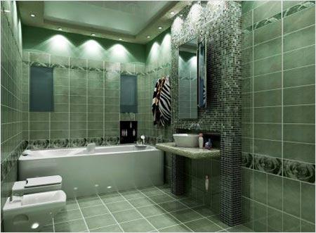 Как установить плитку в ванной?