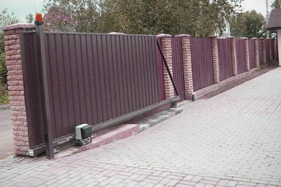 Подготовка к установке откатных ворот