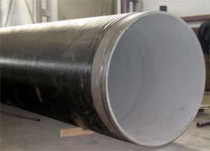 Применение труб с нанесением цементно-песчаного покрытия
