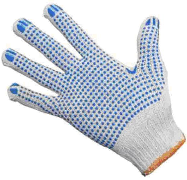 Трикотажные перчатки с ПВХ идеальное средство защиты рук на стройке и не только