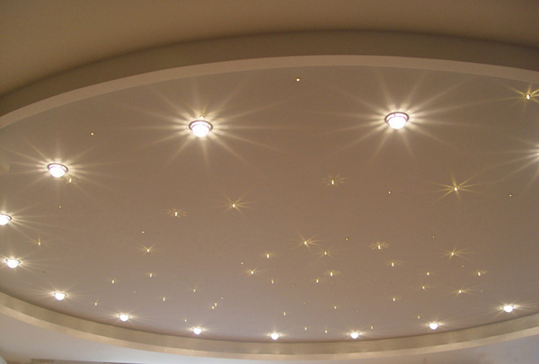 Виды потолочных светильников для натяжных и подвесных потолков