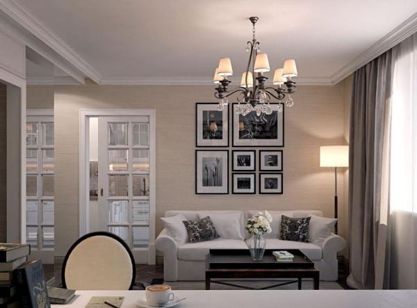 Какой должна быть люстра в гостиной с разными параметрами?