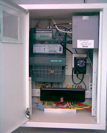 Установка автоматизированной системы контроля и учета электроэнергии