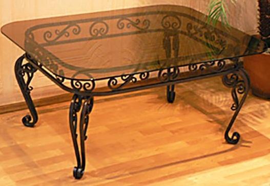 Столы кованые - красота и изысканность