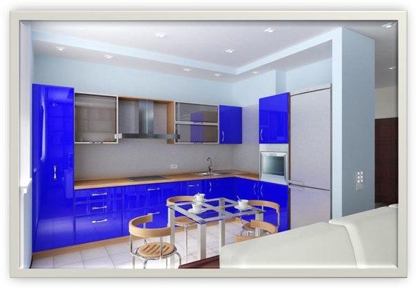 Схема эксклюзивного ремонта кухни квартиры