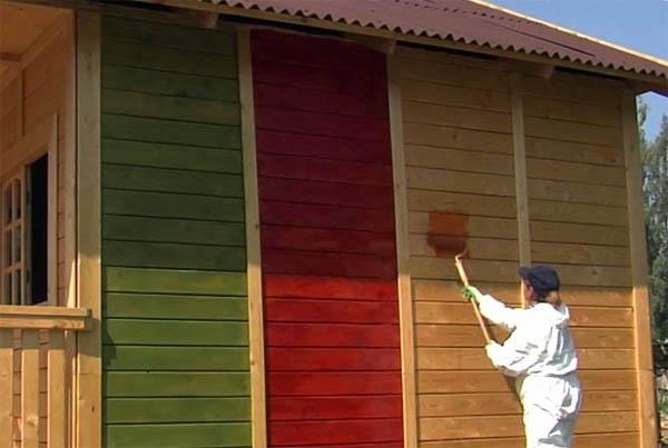 Наружная покраска: выбор краски по дереву