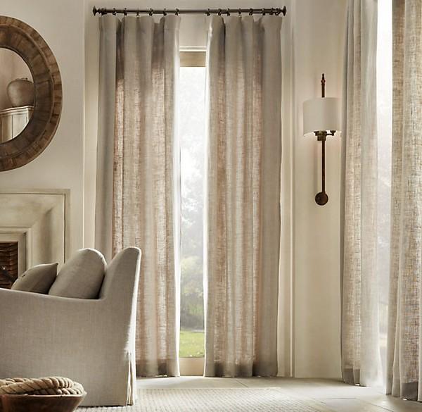 Льняные шторы – отличное украшение вашего интерьера