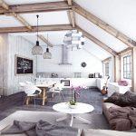 Декоративные или фальшбалки на потолок в интерьере