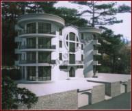 Многопролетное коньковое здание